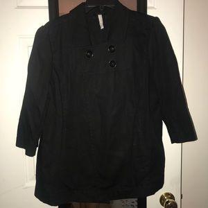 Old Navy black blazer/trench